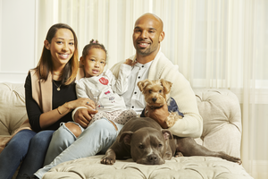 Matt Forte with his family